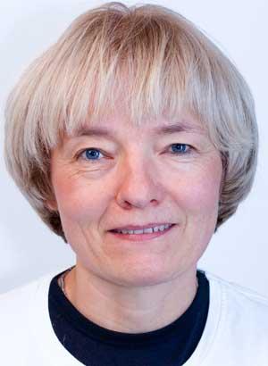 Fysioterapeut Inger Hejlskov Maegaard. Uddannet i bl. a. Kirsten Tørsleffs behandlingsmetode for brystopererede
