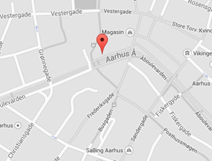 Fysioterapien Åboulevarden 70 ligger lige midt i Århus - Ved siden af Magasin. Se et kort her, så du kan finde vej til din fysioterapeut