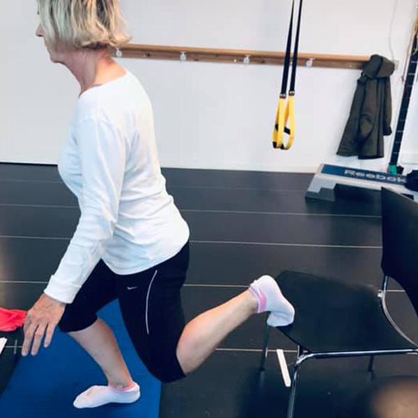 træningsforløb med GLA:D RYG på klinikken